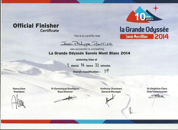 Certificate 2014