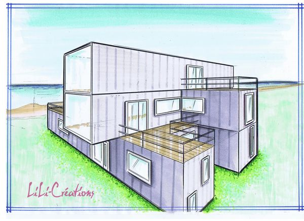 Le blog de elise fossoux for Comment construire sa maison container