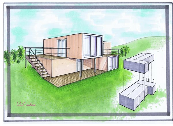 Le blog de elise fossoux d coration architecture d for Construction de maison container