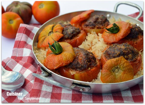 Tomates farcies boeuf chorizo cuisiner tout simplement le blog de cuisine de nathalie - Cuisiner les tomates sechees ...