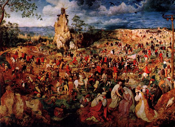 The procession to the calvary