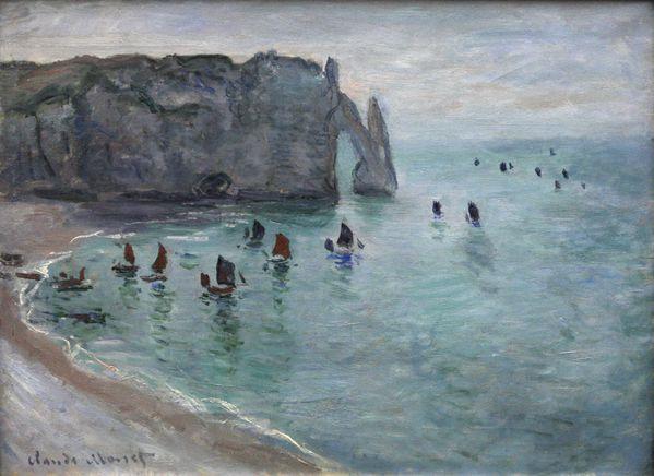 Etretat 002 Claude Monet-Etretat the Aval door fishing boat