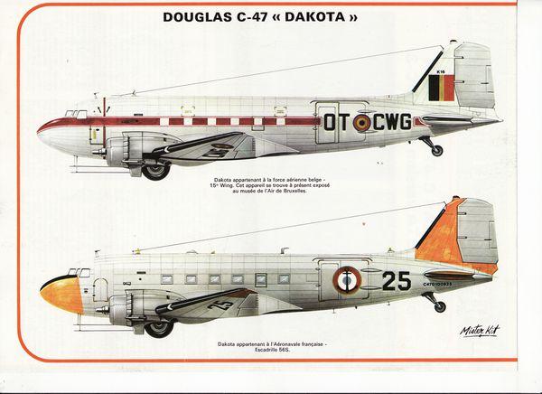 avion douglas C-47 ou dakota DC.3.1