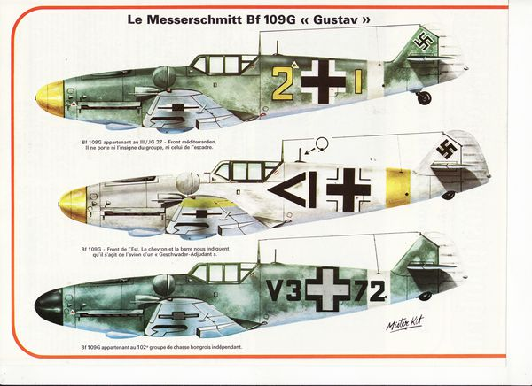 avion messerschmitt BF 109G.1