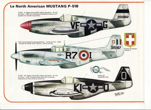 avion north american mustang P-51B.1