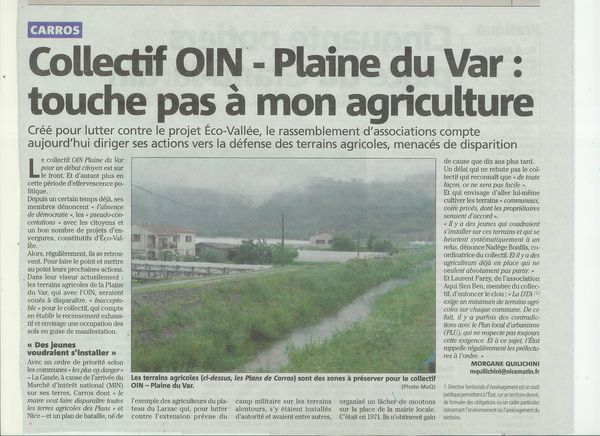 Article Nice Matin 22 mai 2012 OIN-1