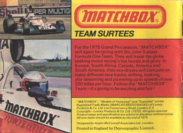 catalogue matchbox 1975 p47 john surtees