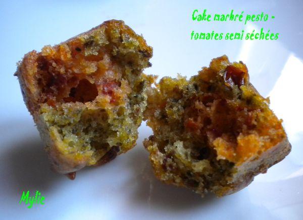 cake marbré pesto-tomates séchées 2