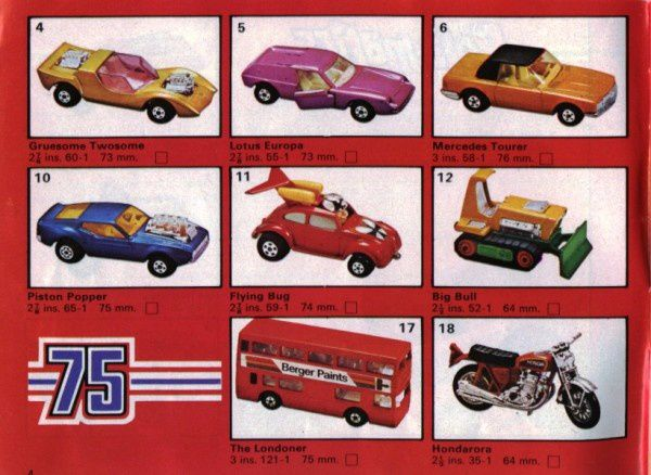catalogue matchbox 1975 p04 hondarora big bull