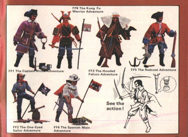 catalogue matchbox 1975 p43 figurines captain kung fu