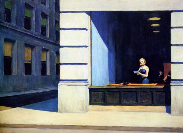 EDWARD HOPPER016bureau à New York