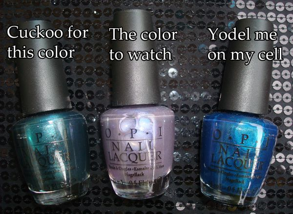 OPI Swiss Collection part 2