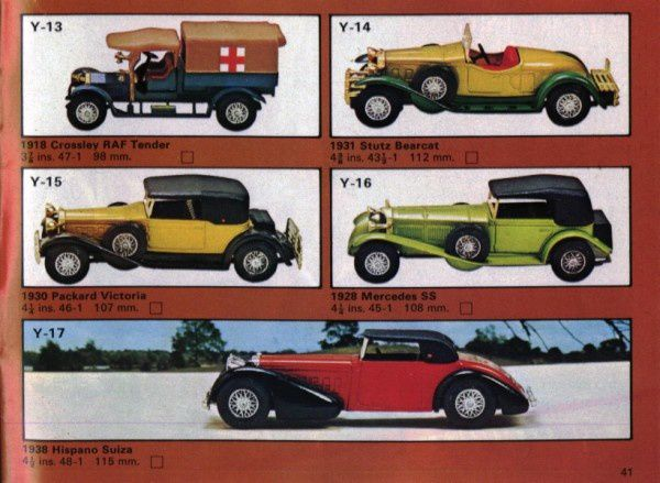 catalogue matchbox 1975 p41 hispano suiza