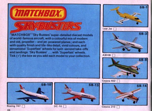 catalogue matchbox 1975 p44 boeing 747