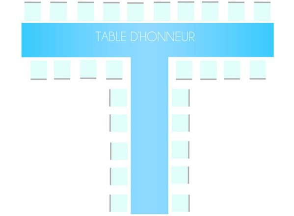 Les diff rents plans de table pour un mariage d coration for Table 30 personnes