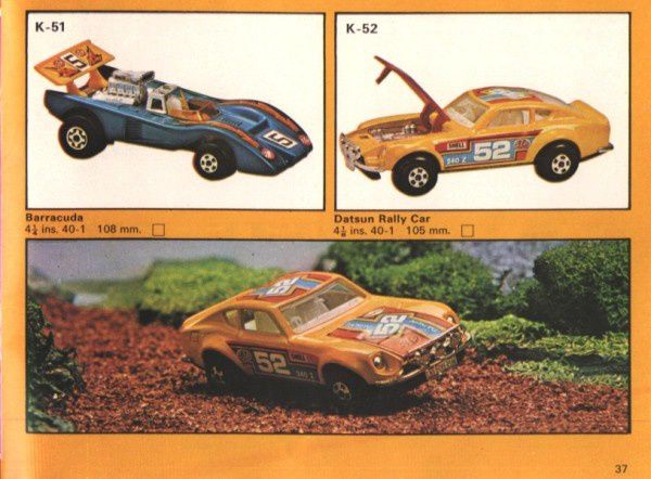 catalogue matchbox 1975 p37 barracuda datsun rally car