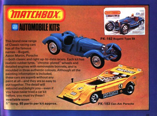 catalogue matchbox 1975 p45 can am porsche bugatti type 59