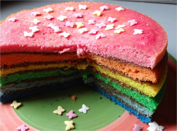 rainbow cake au nutella lucky sophie blog maman. Black Bedroom Furniture Sets. Home Design Ideas