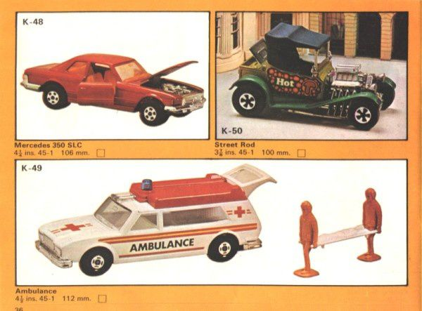 catalogue matchbox 1975 p36 ambulance infirmiers civiere
