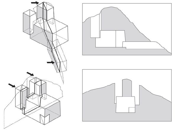 Arup Engineering schematic of Eduardo Chillida Mount Tinday
