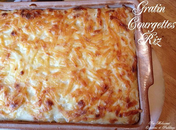 gratin courgettes riz bechamel fromage