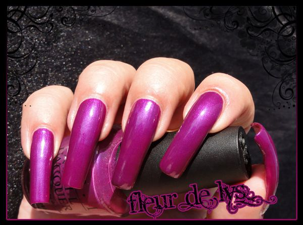 OPI Plugged in Plum swatches