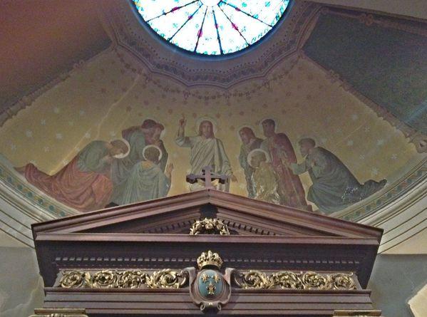 Chapelle Saint Louis Église Saint-Germain Christ et Apôtres Fresque d'Eugène Pineu