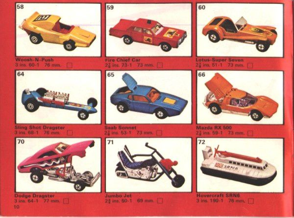 catalogue matchbox 1975 p10 lotus super seven