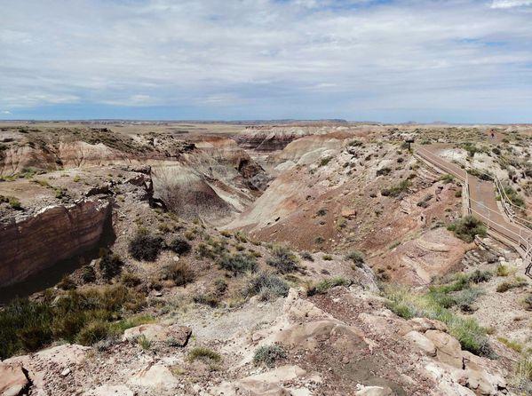 Petrified Forest Blue Mesa Trail départ (2)