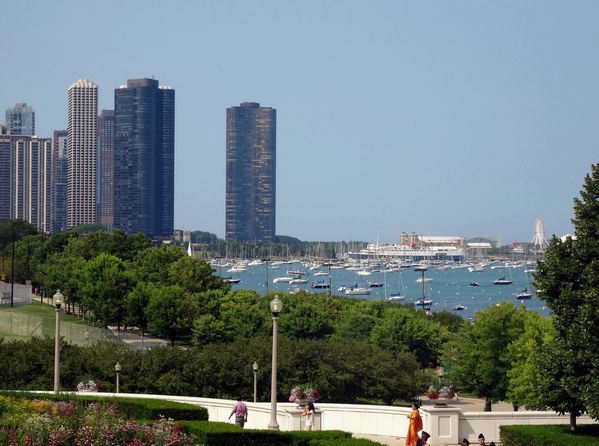 Chicago Museum campus vue sur Navy Pier