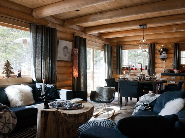 Chalet-traditionnel-salon-contemporain