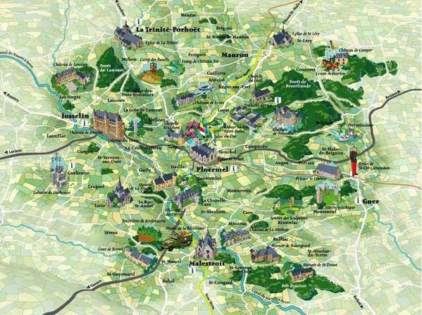 foret de broceliande carte