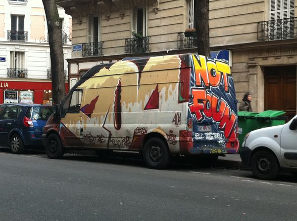 404 van not found, rue caulaincourt, paris