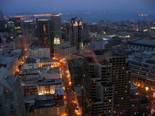 San Francisco nuit vue du Hilton 2