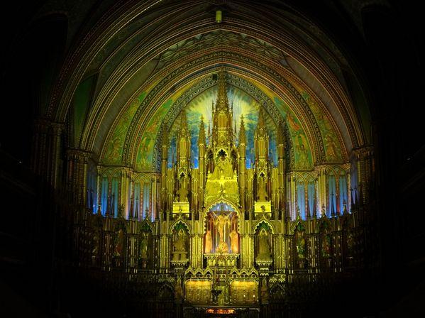 Montréal basilique Notre-Dame spectacle 2