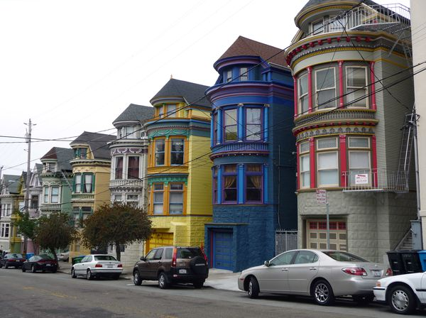San Francisco Haight Ashbury Maisons 1