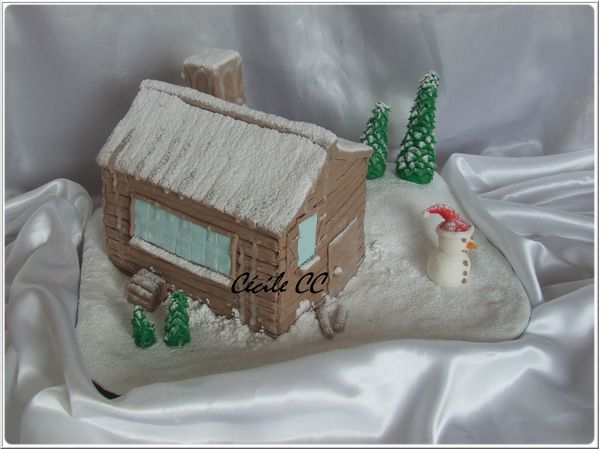 Tutoriel g teau 3d chalet sous la neige mes g teaux for Creation maison 3d