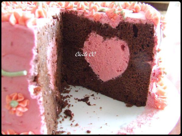 gâteau chocolat-crème framboise 1.2