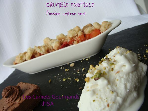 CRUMBLE EXOTIQUE GLACE COCO