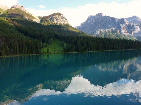 Jour 18 Emerald Lake matin canoé