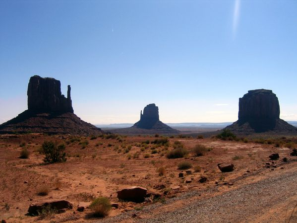Monument Valley The Mittens contre-jour