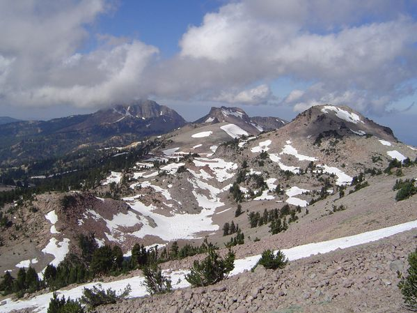 restes du Tehama - Brokeof Mt, Driller Mt, Eagle peak