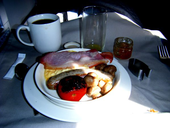 breakfast business class british airways london windhoek