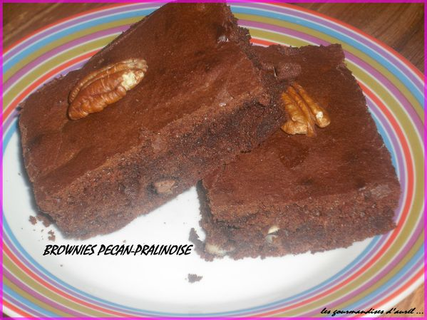 brownies pecan-pralinoise