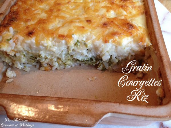 gratin courgettes riz fromage