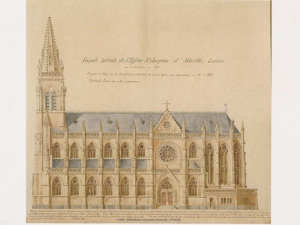 plan église Saint Jacques 1874