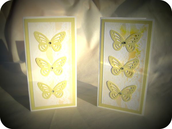 Scrap'Inès Cartes jumelles papillons Twin butterfly cards