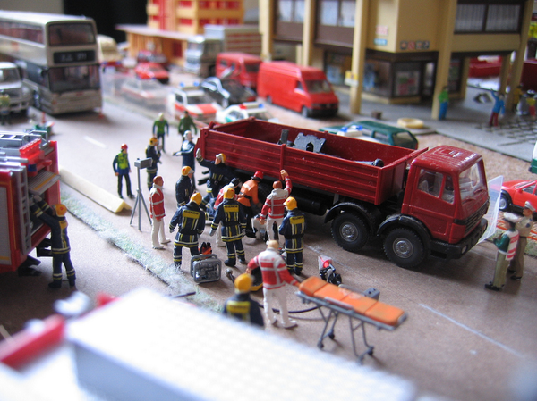 diorama accident pompiers k