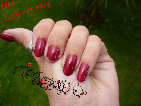 Essie Lacy not racy 2 couches 3