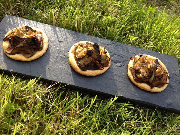 Tartelettes aux Courgettes, Cumin et Olives Noires (25)